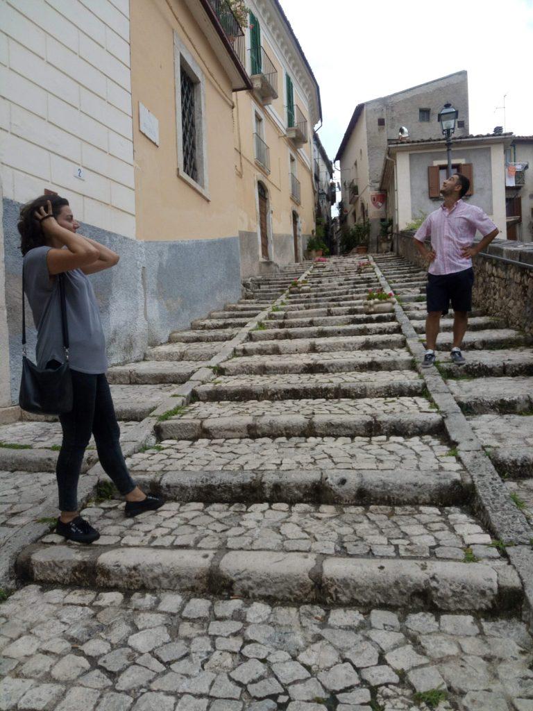 Pacentro verso il Castello Caldora Abruzzo