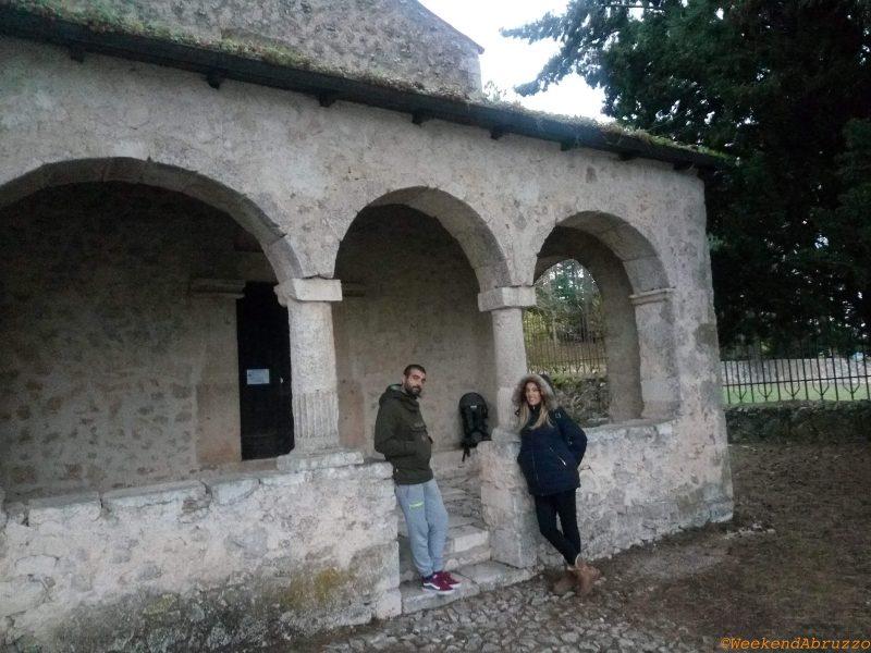 Bominaco (AQ)entrata dell'Oratorio di San Pellegrino - Cappella Sistina d'Abruzzo